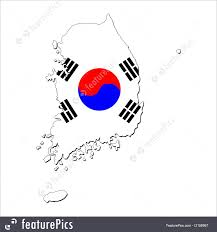Map Of South Korea Signs And Info South Korea Map Flag Stock Illustration I2158967