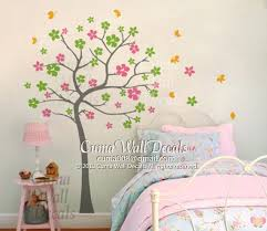 Tree Nursery Wall Decal Flower Tree Wall Decal Baby Original Cuma Wall Decals