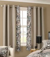 awesome design ideas using brown motif loose curtains and brown