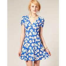 asos tea dress in blue floral print polyvore