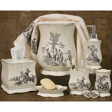 French Bathroom Decor Toile Kitchen Accessories Antoinette Bath Accessories Collection