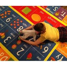 Abc Area Rug Kc Cubs Playtime Collection Abc Alphabet Numbers And Shapes