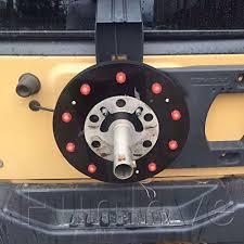 jeep jk 3rd brake light whdz spare tire wheel led third brake light rear spare tire wheel