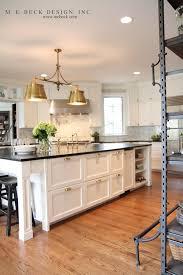 Antique Brass Kitchen Island Lighting M E Beck Design Kitchen With Brass Light Fixture By Visual Comfort