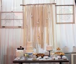 dessert table backdrop gauzey cotton ribbon wedding dessert table backdrop