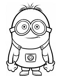 cartoon coloring pages dave the minion despicable me coloring pages cartoon coloring