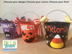 halloween bucket personalized halloween bucket pail girly