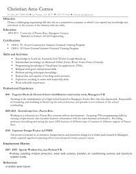 Profile On Resume Examples by Sample Resume Graduate Civil Engineer Templates