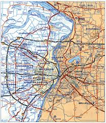 map st louis missouri route 66 maps