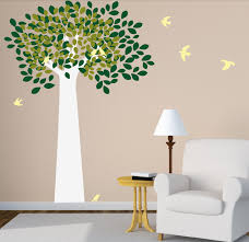 large tree wall decal with birds for kids baby nursery room home