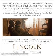 abraham lincoln proclaimed thanksgiving a national