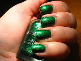 kleancolor nail lacquer 163 metallic green nail polish new