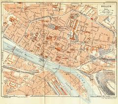 map of rouen rouen 1932 vintage map