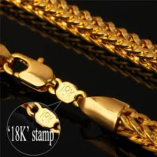gold plated chain necklace images Men necklace 4mm 55cm 22 quot foxtail franco chains trendy gold color jpg