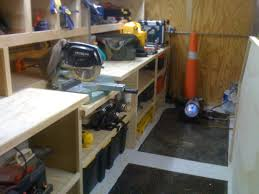 Trailer Garage Contractor Tool Trailer Setup Thank You Everyone For The Ideas