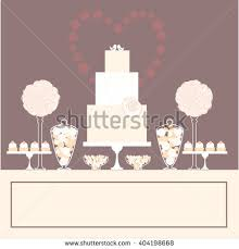 wedding cake dessert table stock vector 271888814 shutterstock