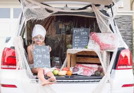 zombie meat market trunk or treat display ritzy parties