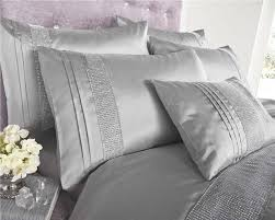 Superking Duvet Super King Size New Grey U0026 Silver Diamante Luxury Duvet Cover