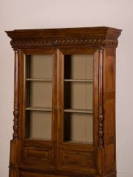 Vintage Display Cabinets French Antique Walnut Display Cabinet Bookcase Shallow Depth
