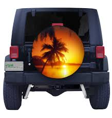 jeep beach sunset tropical beach sunset spare tire cover