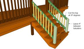Banister Rails For Stairs How To Build A Porch Stair Railing Howtospecialist How To