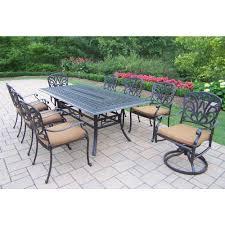 Sunbrella Patio Furniture Sets - oakland living hampton 9 piece patio dining set with sunbrella