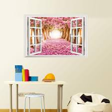compare prices on wall stickers cherry blossoms online shopping 3d window cherry blossom tree art home decor wall sticker wall decals cherry tree a false