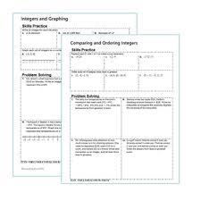 u0026 coordinate plane homework worksheets skills practice u0026 word