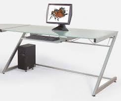 corner stained brown wooden computer desk with storage also