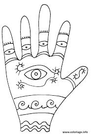 Coloriage Main Mandala dessin