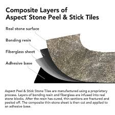 Aspect Peel And Stick Backsplash by Aspect 6 X 24 Inch Weathered Quartz Peel And Stick Stone