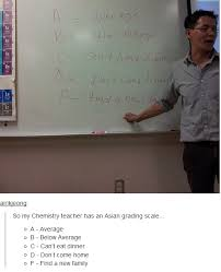 Asian Teacher Meme - ha ha asian grading scale lol pinterest scale humour and