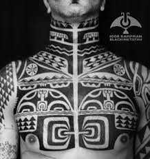 marquesan patutiki chest and neck piece by igor kampman