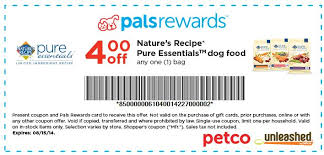 printable nature s recipe dog food coupons petco 4 1 nature s recipe pure essentials dog food and b2g1 wet