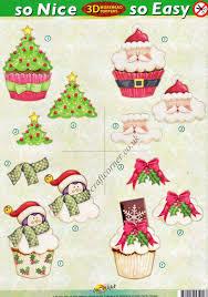 christmas tree cup cakes so nice so easy morehead 3d die cut
