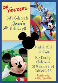 mickey mouse clubhouse birthday invitations mickey mouse