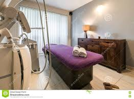 massage room interior in wellness center stock photo image 79333759