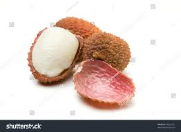 lychee fruit candy group lychee known chinese gooseberry isolated stock photo