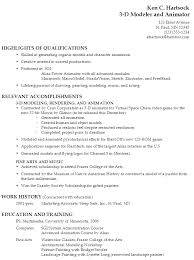 sample music resume for college application resume for a 3 d modeler and animator susan ireland resumes