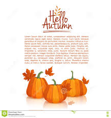 thanksgiving leaves clipart banner design template hello autumn poster design with the decor