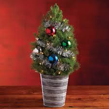 mini live trees lights decoration