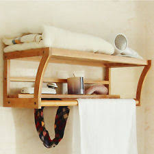 bamboo towel rack ebay
