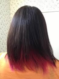 dye bottom hair tips still in style pink under dark brown hair my style pinterest makeup hair