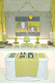 elephant baby shower favors outstanding elephant baby shower decoration yellow gray chevron