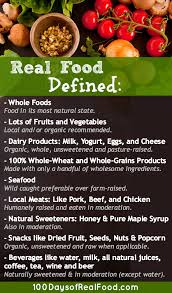 real food defined the rules 100 days of real food
