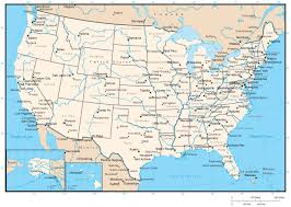 united states map with states names and capitals the us map with states and capitals