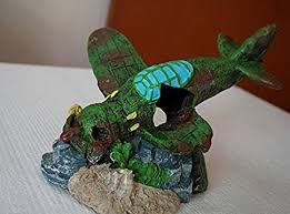 damaged battleplane 19cm fighter plane fish tank