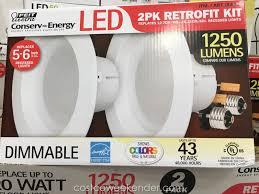 costco led can lights feit electric led 6 inch retrofit kit 2 pack costco weekender