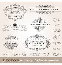 ornament frames set vector design adobe