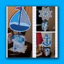 nautical glass fish bowl vase centerpiece baby shower birthday